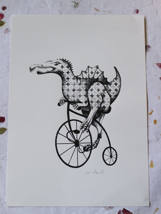 Bike ride art print by Amanda Chanfreau