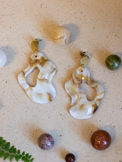 Fluid fudge earrings