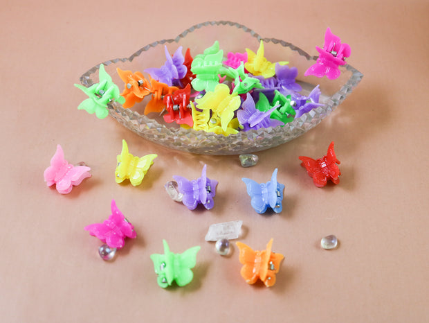Butterfly teeny tiny hairclip 10pcs