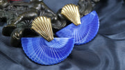 Vibrant art deco fan golden earrings (Limited edition)