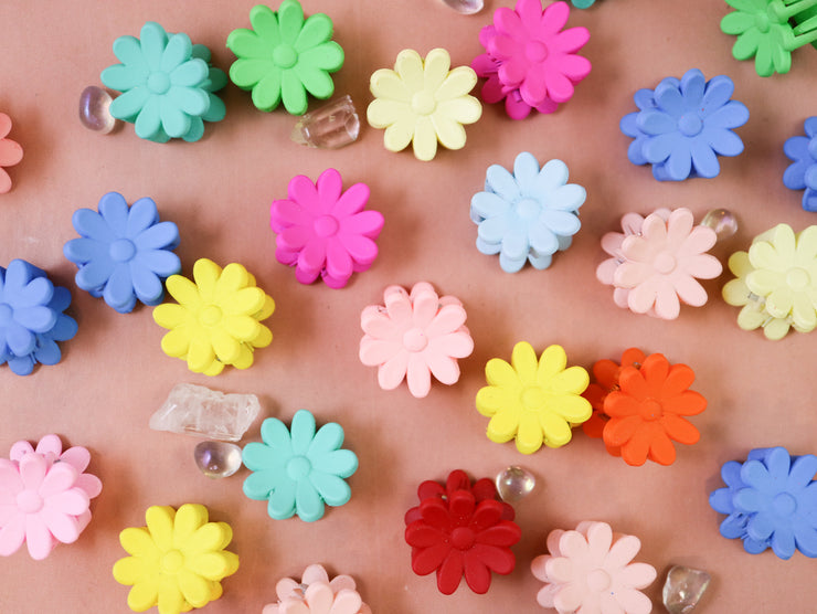 Daisy tiny hairclip set 10pcs
