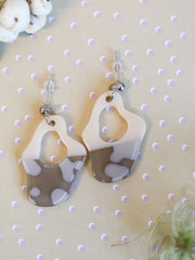 Grey rainy windshield earrings