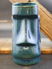 Sailor Lars tiki mug Moai blue