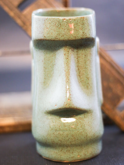 Sailor Lars tiki mug Moai green