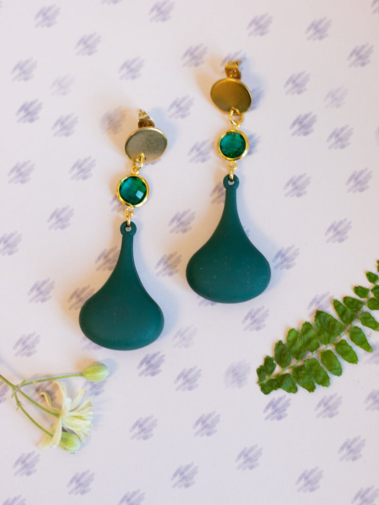 Green gong earrings (Limited edition)