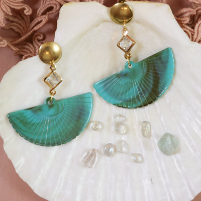 Turquoise fan earrings (Limited edition)
