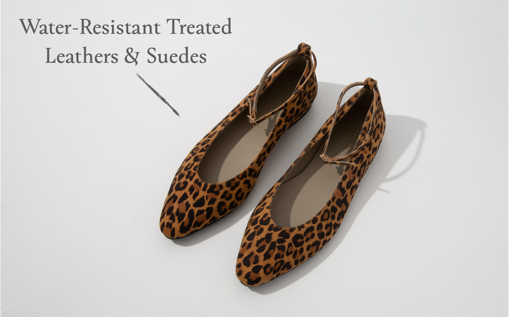 RĒDEN water-resistant treated leather and suede upper material