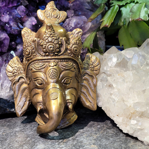 Solid Brass Ganesha Wall Hanging