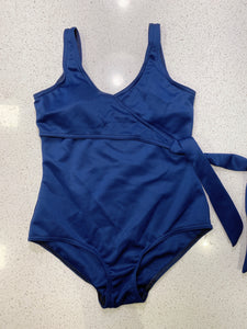 SAMPLE SALE: NAVY BLUE ONESIE WITH SIDE RIBBON