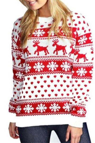 Christmas Fashion Printed Knit Top