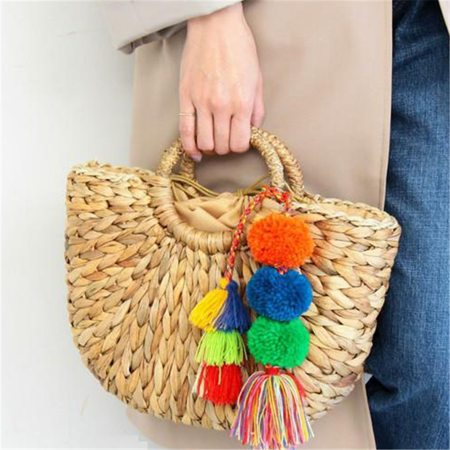 Corn husk preparation tassel hair ball straw package