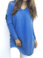 Fashionable V-Neck Long Sleeved Thin Sweater