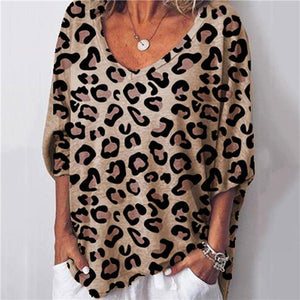 Sexy Leopard Print Loose T Shirt