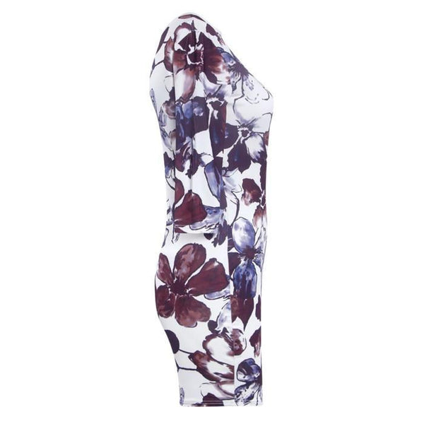 Plus-Size Sexy Round Neck Print Dress