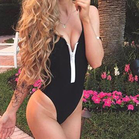 Zips  Plain One Piece