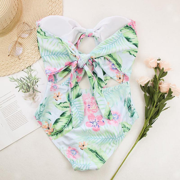 Sexy printing bikini one-piece swimsuit
