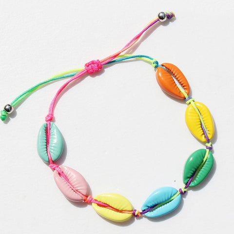 Hot Sale Rainbow color Fashion Seashell Bracelet
