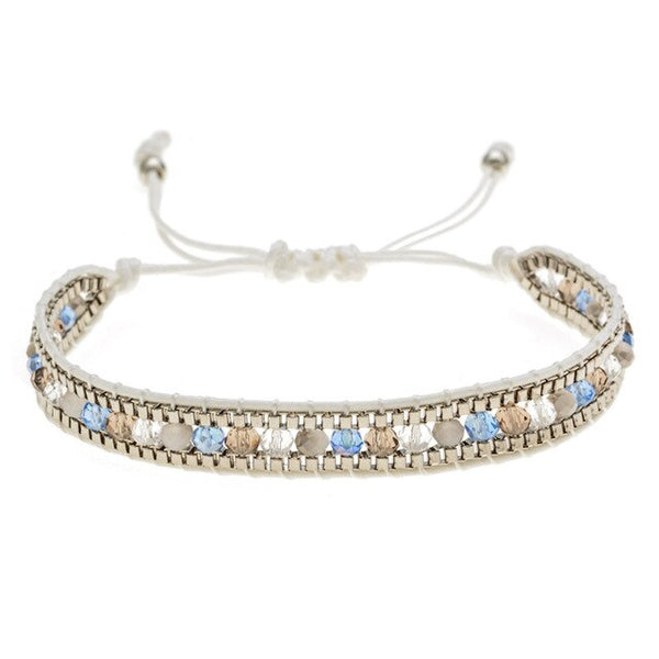 Shiny Crystal Beads Beaded Bohemia Bracelet