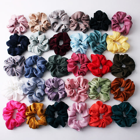 2019 Fashion Lovely Satin Scrunchies