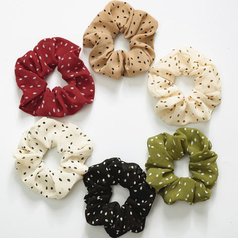 2019 New Dots Elastic Scrunchies