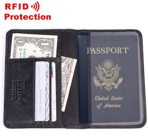 Portefeuille homme Cuir véritable Protection RFID Anti-vol
