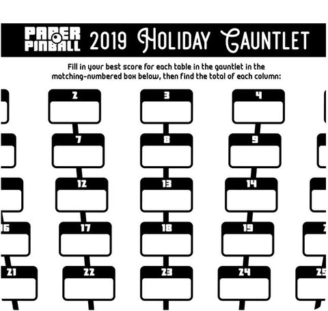 Paper Pinball: Holiday Gauntlet