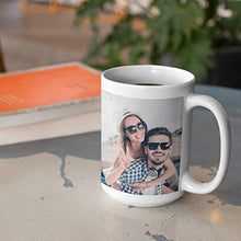 Load image into Gallery viewer, Custom Photo Coffee Mugs, 15 oz. w/Picture, Text, Name on Coffee Mugs, Personalized Gifts, Ceramic Custom Mug, Great Photo Gifts for Mom, Dad and Office, Christmas, Taza Personalizadas