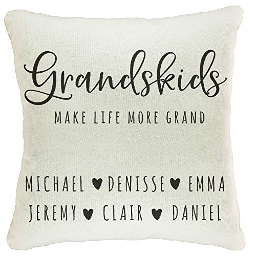 Zexpa Apparel Personalized Throw Pillow Covers for Family Names House Décor | Customized Pillow Case for Christmas, Birthday, Aniversary, 18