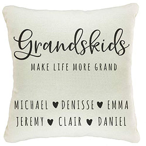 "Zexpa Apparel Personalized Throw Pillow Covers for Family Names House Décor | Customized Pillow Case for Christmas, Birthday, Aniversary, 18""x18"" 