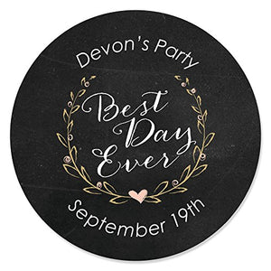 Custom Best Day Ever - Personalized Candle Tins Party Favors - Set of 12