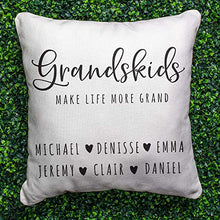 "Load image into Gallery viewer, Zexpa Apparel Personalized Throw Pillow Covers for Family Names House Décor | Customized Pillow Case for Christmas, Birthday, Aniversary, 18""x18"" 