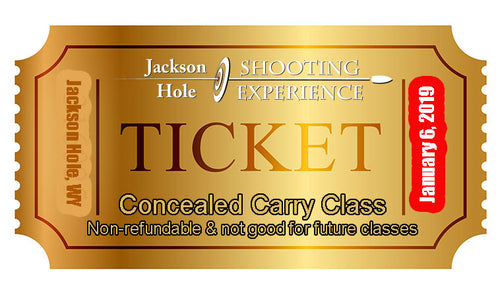 1 Ticket to January 6, 2019 Concealed Carry Class