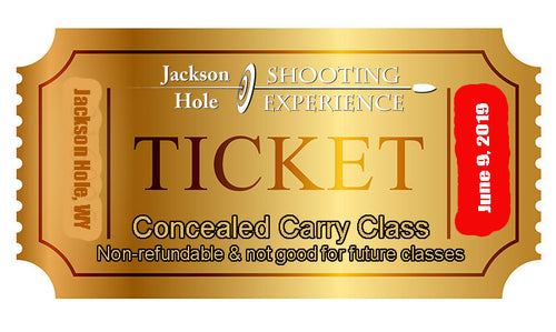 1 Ticket to June 9, 2019 Concealed Carry Class