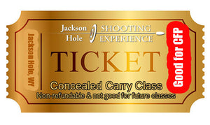 1 Ticket to Oct 3, 2020 Concealed Carry Class