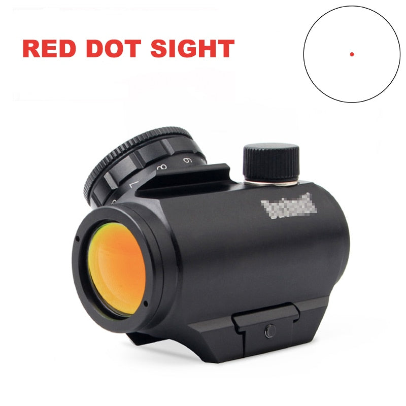 Inexpensive Chinese 1X20 Red Dot Sight Rifle Scope 3MOA dot Reticle Matte Black