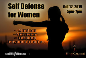 "1 Ticket to Oct 12, 2019 ""Self Defense for Women Workshop"""