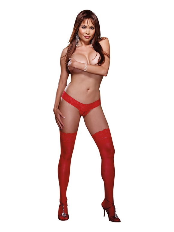 THIGH HIGH RED QUEEN -DG0005XRD