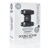NU Sensuelle Double Action 7+2 Function Cock Ring - BT-M37BK