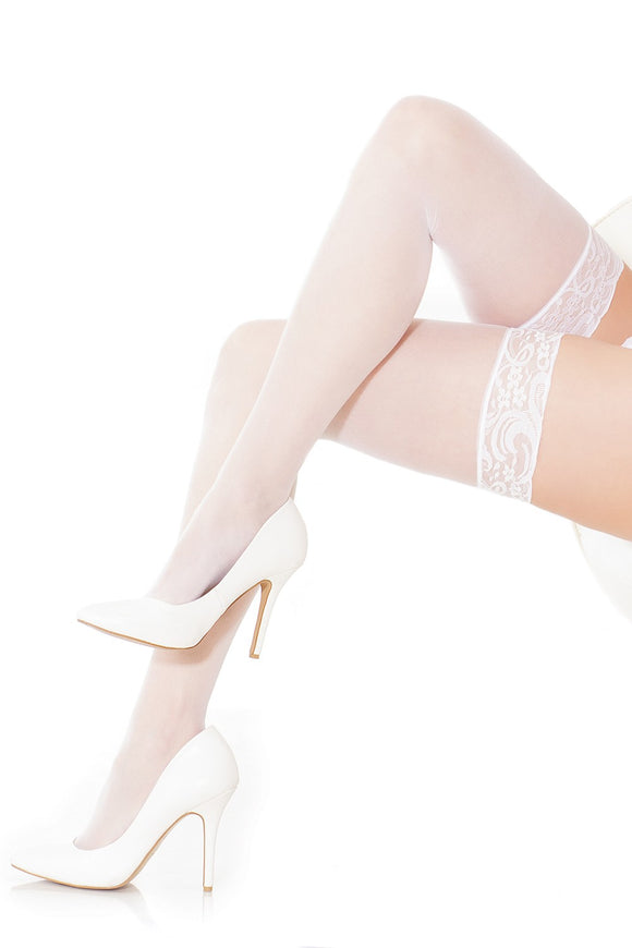 SHEER STOCKING WHITE O/S -CQ1750WHT