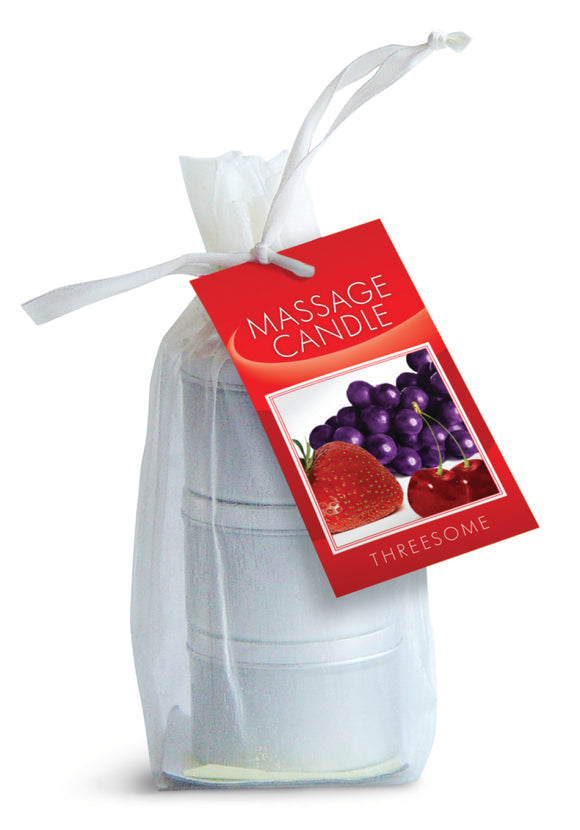 CANDLE 3 PACK EDIBLE CHERRY GRAPE STRAWBERRY -EBHSCK200