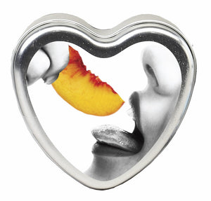 CANDLE 3-IN-1 HEART EDIBLE PEACH 4.7 OZ -EBHSCK006