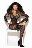 VIVACE LONG SLEEVE BODYSTOCKING BLACK O/S -ELM8503