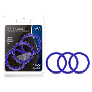 Performance - VS3 Pure Premium Silicone Cock Rings - Large - BL-72812
