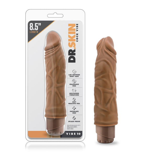 Dr. Skin - Cock Vibe 10 - 8.5 Inch Vibrating Cock - BL-11357