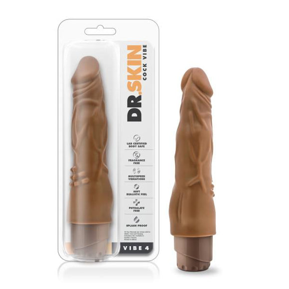 Dr. Skin - Cock Vibe 4 - 8 Inch Vibrating Cock - BL-10127