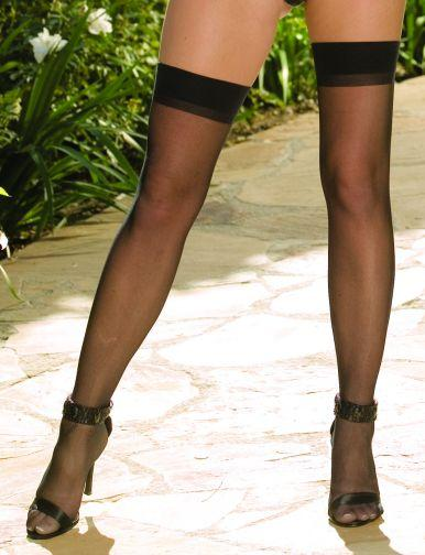 THIGH HIGH SHEER BLACK OS INMOULININ -DG0007BK