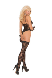 LACE TEDDY & STOCKINGS O/S -ELM1541
