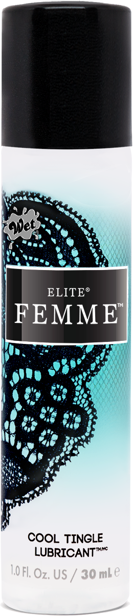 WET ELITE FEMME COOL TINGLE SILICONE BLEND 1 OZ -W20790