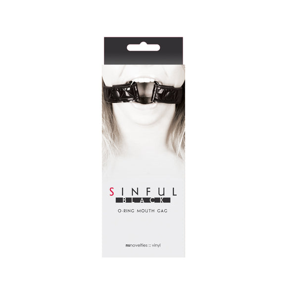 SINFUL O-RING MOUTH GAG BLACK -NSN122913