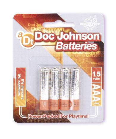 DOC JOHNSON BATTERIES AAA 4 PACK CD -DJ039907